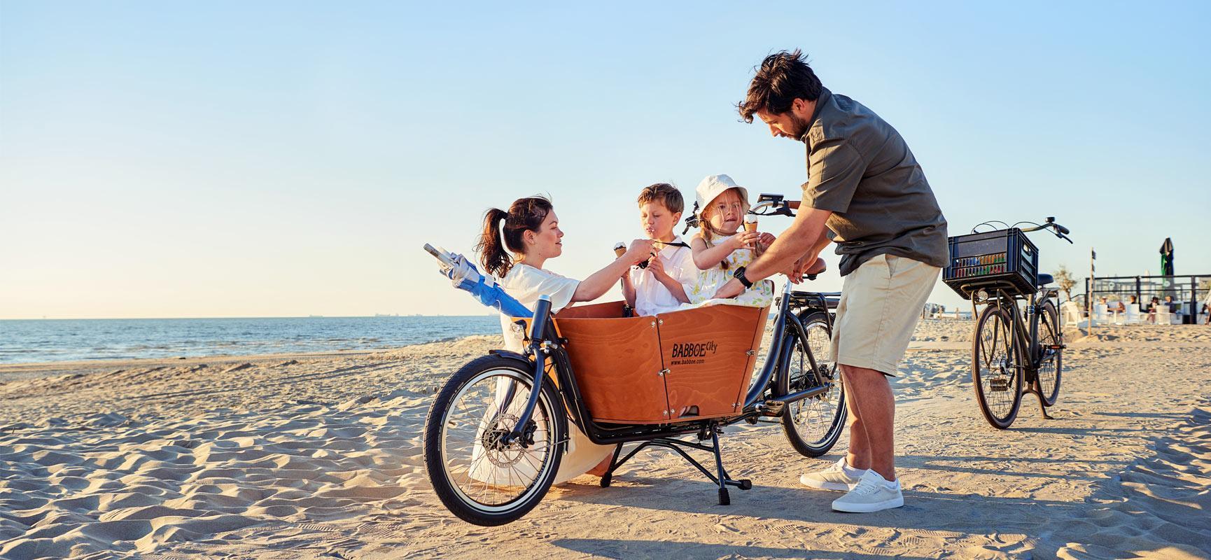 Louer un vélo cargo Babboe en vacances