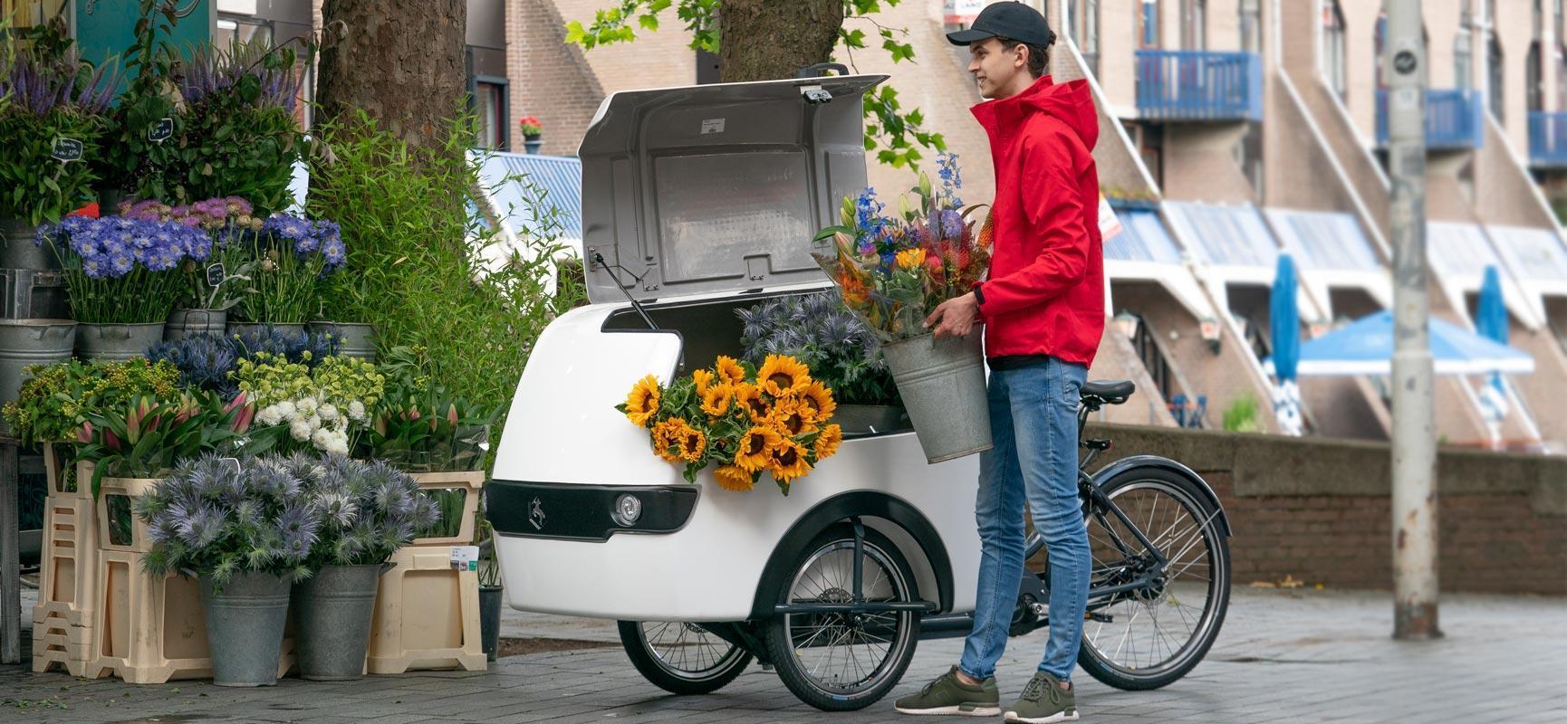 Last mile delivery avec le vélo cargo Babboe Pro