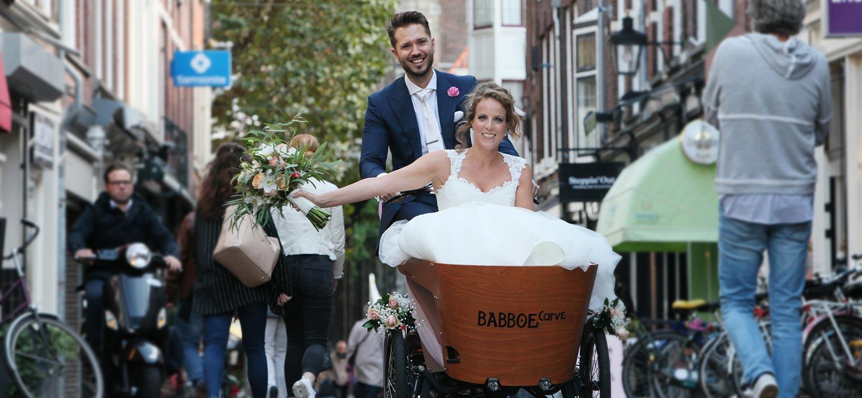 Se marier sur un vélo cargo ? C'est possible !