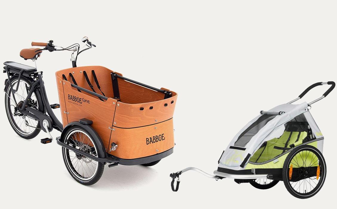 Vélo cargo ou remorque vélo