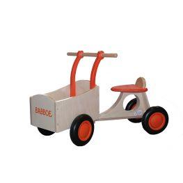 Babboe vélo d'équilibre en bois orange