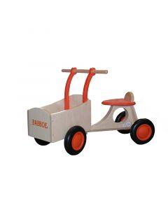 Babboe au cours de tricycle orange