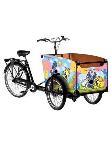 Babboe vélo cargo autocollants woezel et pip classic
